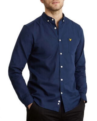 Lyle & Scott Cotton Linen Shirt Navy