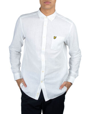 Lyle & Scott Cotton Linen Shirt White