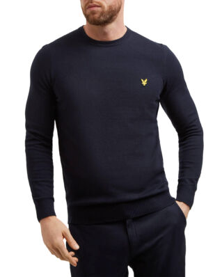 Lyle & Scott Cotton Merino Crew Jumper Dark Navy