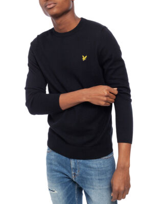 Lyle & Scott Cotton Merino Crew Jumper True Black
