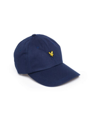 Lyle & Scott Cotton Twill Baseball Cap Dark Navy