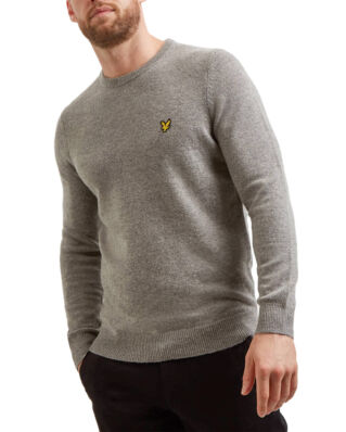 Lyle & Scott Crew Neck Lambswool Blend Jumper Mid Grey Marl