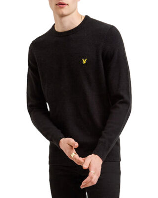 Lyle & Scott Crew Neck Lambswool Blend Jumper True Black