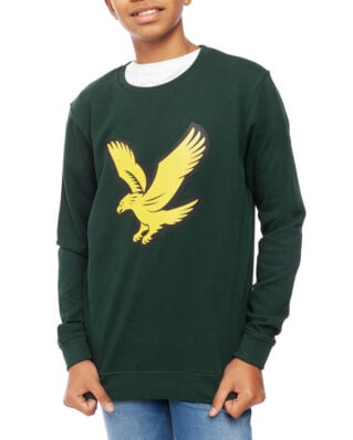 Lyle & Scott Junior Logo Crew Fleece Pine Grove