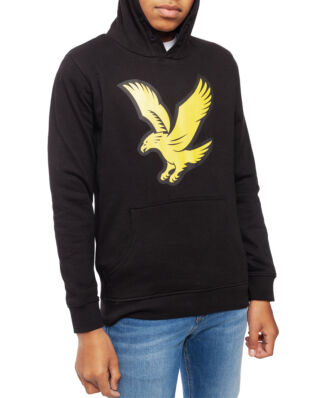 Lyle & Scott Junior Logo Hoody Fleece  Black