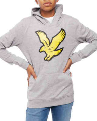 Lyle & Scott Junior Logo Hoody Fleece Vintage Grey Heather