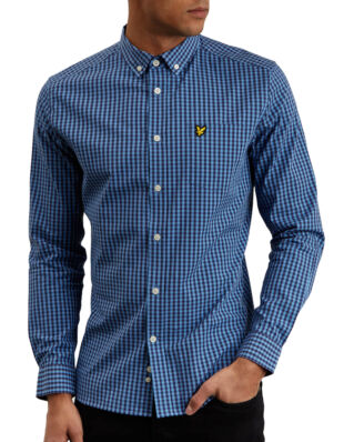 Lyle & Scott Ls Slim Fit Gingham Shirt Cornflower Blue