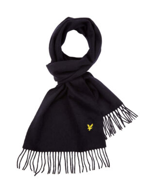 Lyle & Scott Plain Lambswool Scarf Dark Navy