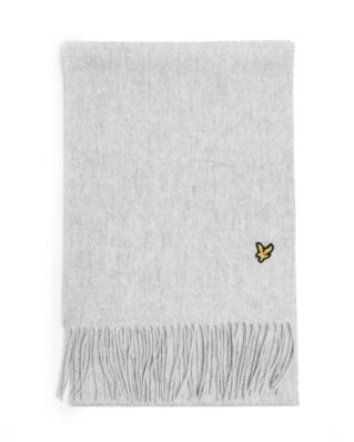 Lyle & Scott Plain Lambswool Scarf Light Grey Marl