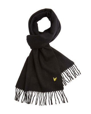 Lyle & Scott Plain Lambswool Scarf True Black