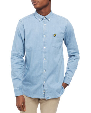 Lyle & Scott Regular Fit Denim Shirt Washed Indigo