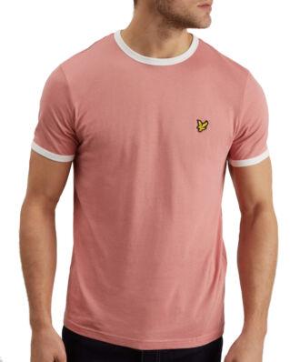 Lyle & Scott Ringer T-shirt Pink Shadow/Snow White