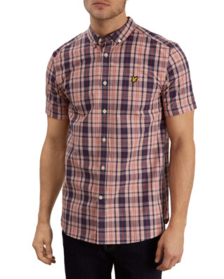 Lyle & Scott SS Check Shirt Coral Way