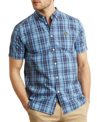 Lyle & Scott SS Check Shirt Cornflower Blue