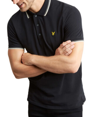 Lyle & Scott Tipped Polo Shirt True Black