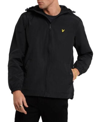 Lyle & Scott Zip Through Hooded Jacket True Black