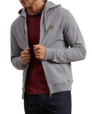 Lyle & Scott Zip Through Hoodie Mid Grey Marl