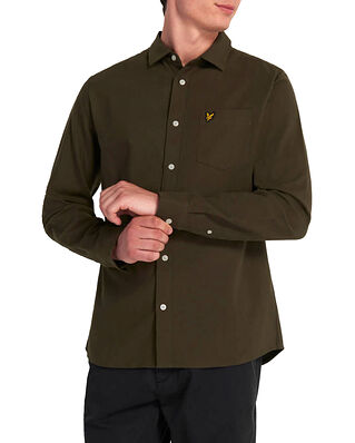 Lyle & Scott Brushed Twill Shirt Trek Green