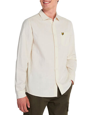 Lyle & Scott Brushed Twill Shirt Vanilla Ice