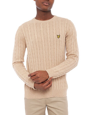 Lyle & Scott Cable Jumper Sand Storm Marl