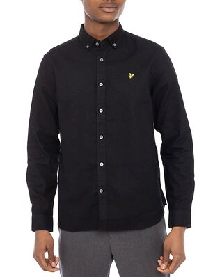Lyle & Scott Cotton Linen Shirt Jet Black