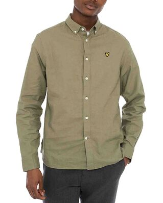 Lyle & Scott Cotton Linen Shirt Moss