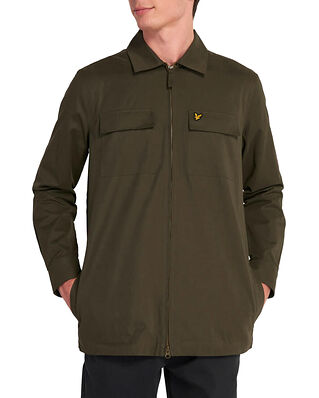 Lyle & Scott Cotton / Nylon Overshirt Trek Green