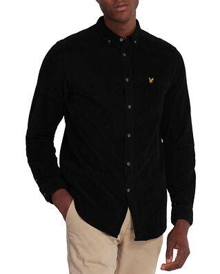 Lyle & Scott Needle Cord Shirt Jet Black