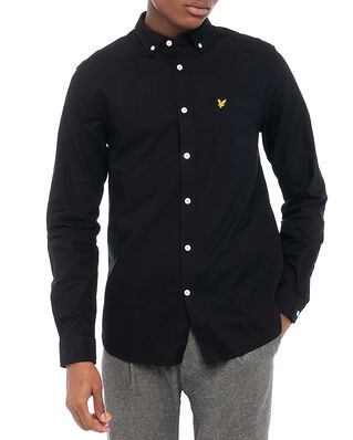 Lyle & Scott Regular Fit Light Weight Oxford Shirt Jet Black