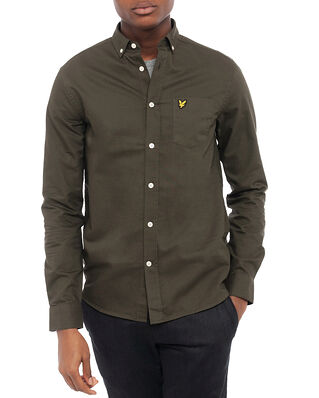 Lyle & Scott Regular Fit Light Weight Oxford Shirt Trek Green