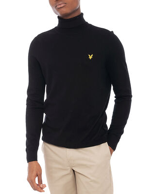 Lyle & Scott Roll Neck Jumper Jet Black