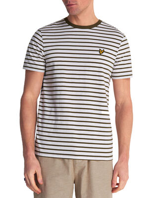 Lyle & Scott Breton Stripe T-shirt Lichen Green/ White