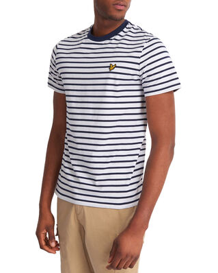 Lyle & Scott Breton Stripe T-shirt  Navy/White