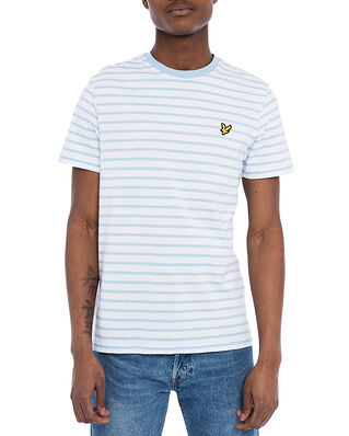 Lyle & Scott Breton Stripe T-shirt Pool Blue/White