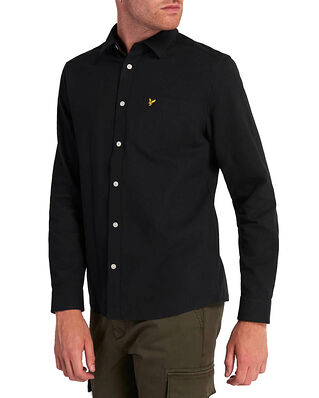 Lyle & Scott Brushed Twill Shirt Jet Black