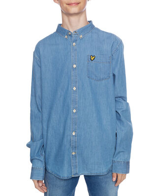 Lyle & Scott Chambray Shirt Light Chambray Blue
