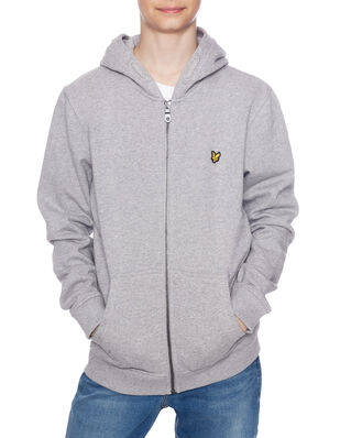 Lyle & Scott Junior Classic Zip Hoodie Vintage Grey Heather