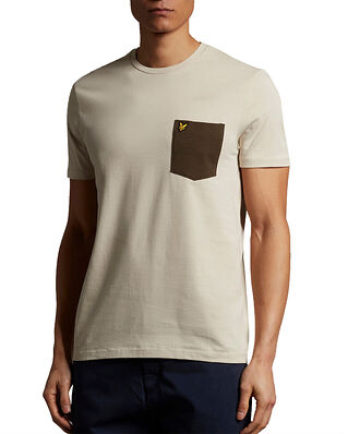 Lyle & Scott Contrast Pocket T-shirt Sesame/Trek Green
