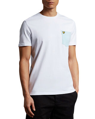 Lyle & Scott Contrast Pocket t-shirt White/Deck Blue