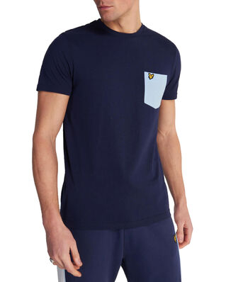 Lyle & Scott Contrast Pocket T Shirt Navy/ Pool Blue