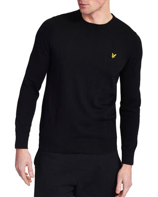 Lyle & Scott Cotton Merino Crew Jumper Jet Black