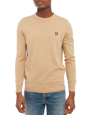 Lyle & Scott Cotton Merino Crew Jumper Sand Storm