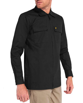 Lyle & Scott Cotton/Nylon Overshirt Jet Black