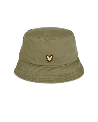 Lyle & Scott Cotton Twill Bucket Hat Lichen Green