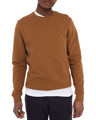 Lyle & Scott Crew Neck Sweatshirt Tawny Brown