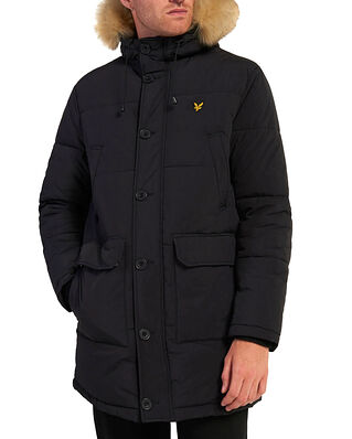 Lyle & Scott Heavyweight Longline Puffer Jacket Jet Black
