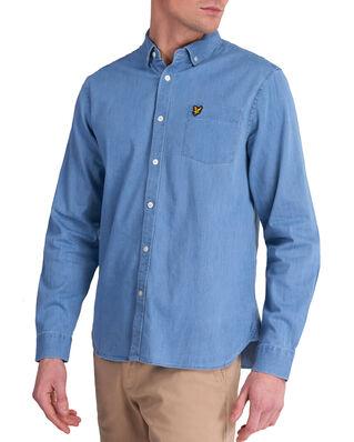 Lyle & Scott Indigo LS Shirt Bleached Indigo