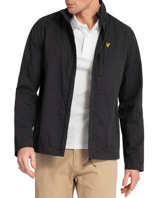 Lyle & Scott Lightweight Funnel Neck Jacket Jet Black