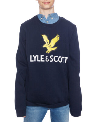 Lyle & Scott Lyle Eagle Logo LB Crew Sweat Navy Blazer