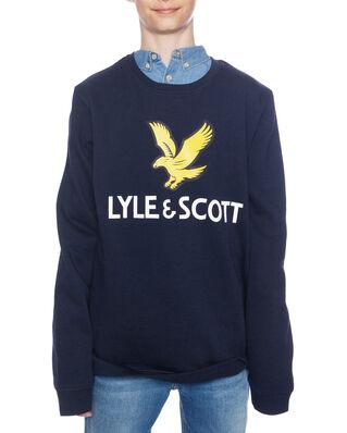 Lyle & Scott Junior Lyle Eagle Logo LB Crew Sweat Navy Blazer